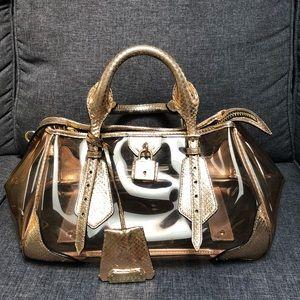 GUC Burberry Prorsum Gold Bag